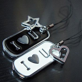 金屬手機吊飾套組-IOU系列.小